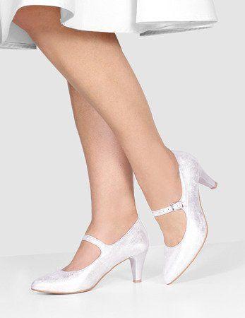 Eleganckie Czolenka Na Obcasie Z Paseczkiem Roxy Delikatny Fiolet Brilu Pl Shoes Fashion Wedding Shoe
