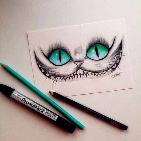 Zeichne Die Katze Von Alice Im Wunderland Alice Die Im Katze