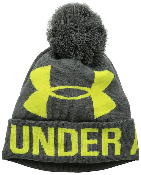 ac8d4888b4d Look and feel you very best on the golf course with this warm and cozy  womens graphic pom pom golf beanie hat by Under Armour!