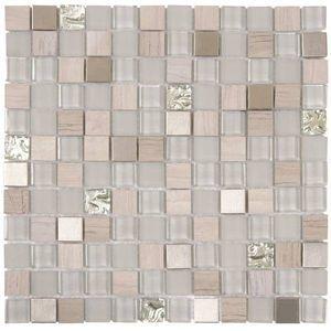 Mowalla 1 Square Mosaic W Marble Glass Metal Tiles In Marble Glass Metal Tiles Size 12 X 12 Sheet Glass S In 2020 Shower Floor Shower Wall Tile Shower Wall