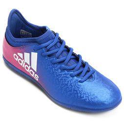 huge selection of 415dc eb60e Chuteira Adidas X 16.3 IN Futsal - Azul+Rosa