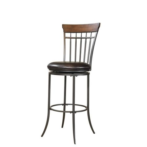 Hillsdale Furniture Cameron 30 In Charcoal Gray And Chestnut