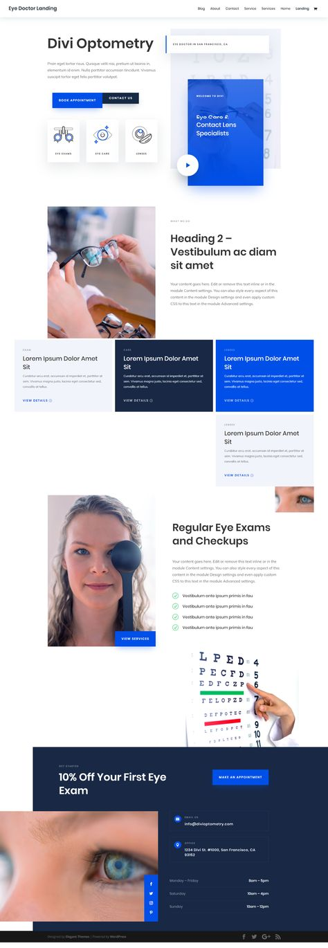 Free Clean Eye Doctor Layout For The Best Wordpress Theme That Follows Latest Web Design Trends