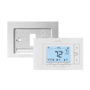 Emerson Sensi 7 Day Programmable Wi Fi Thermostat And Wall