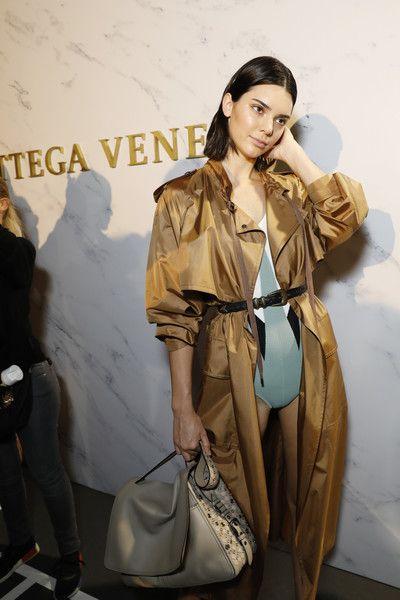Kendall Jenner is seen backstage ahead of the Bottega Veneta show during Milan Fashion Week Spring/Summer 2018.
