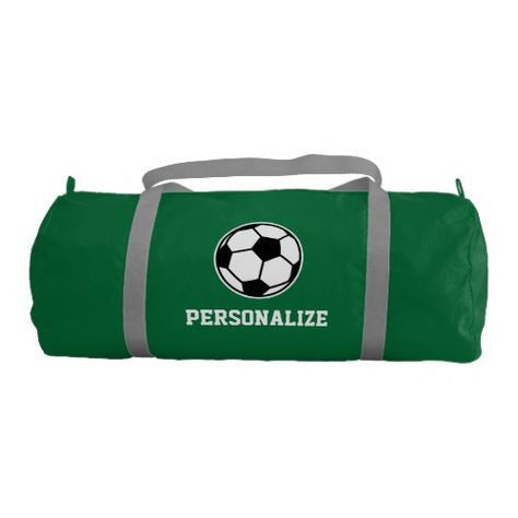 03f14702a110 Personalized soccer ball sports duffle bag | Zazzle.com | GYM BAGS ...