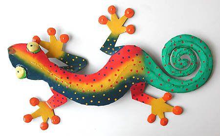 Frog Garden Home Wall Art Home Decor Gecko  Lizard