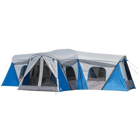 Ozark Trail 16 Person 3 Room Family Cabin Tent With 3 Entrances Walmart Com In 2020 Cabin Tent Family Tent Camping House Tent