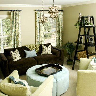 Superior Hardwood Floor, Green Walls, White Trim, Dark Brown Furniture   Just What I  Want In A Living Room! | House Haves | Pinterest | Dark Brown Furniture, ... Part 18