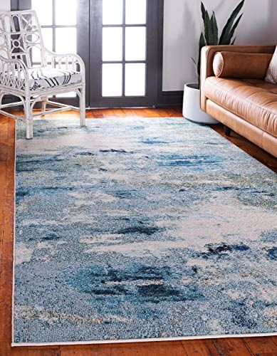 New Unique Loom Chromatic Collection Abstract Modern Light Blue Area Rug 9 0 X 12 0 Home Decor 149 9 C Light Blue Rug Rugs In Living Room Rugs On Carpet
