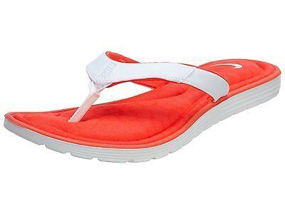 98ef958aaf20 Nike Solarsoft Comfort Thong Womens 705512-611 Crimson White Sandals Size 6