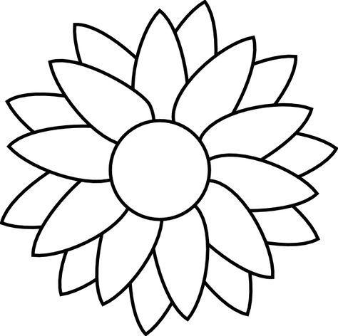 Flower Free Rhinestone Template Downloads Sun Flower Template Clip Art Flower Templates Printable Flower Templates Printable Free Sunflower Template