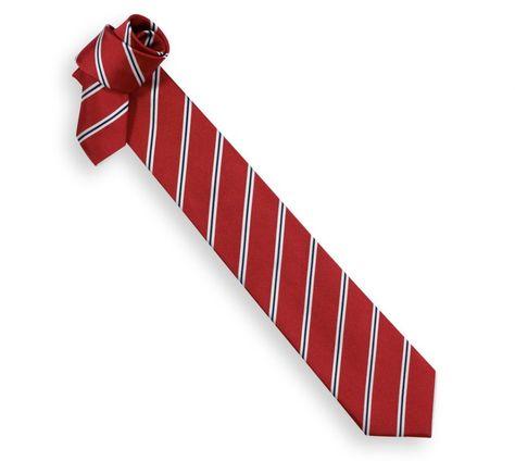 qualité supérieure super pas cher se compare à prix d'usine Cravate Hackett rouge à rayures bleu marine et blanches - La ...