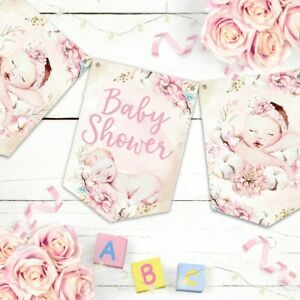 Baby Girl Bunting Baby Shower Decoration Banner Baby Girl