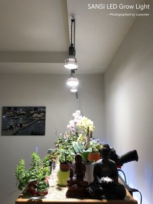 Sansi Led Grow Light Plant Light White Sunlight Bulb For