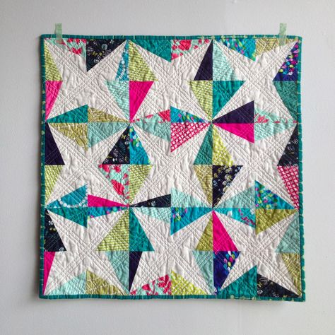 bright wonky stars: Salty Oats Modern Quilt