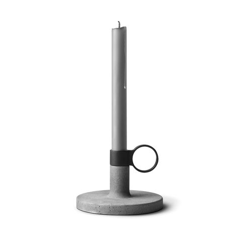 A marriage of classic and modern, this Velerro Candle Holder is a striking addition to your side table or nightstand. Harkening back to chamber candle holders of centuries past, this distinctive design...  Find the Velerro Candle Holder, as seen in the Dark & Stormy Modern Collection at http://dotandbo.com/collections/dark-and-stormy-modern?utm_source=pinterest&utm_medium=organic&db_sku=109360