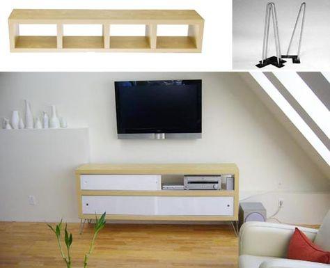 Modern Credenza Ikea : Plastoluxs modern credenza ikea hack the home