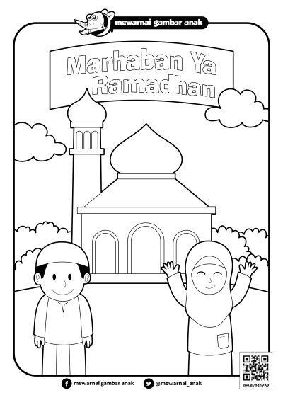 Gambar Mewarnai Ramadhan Warna Buku Gambar Buku Mewarnai