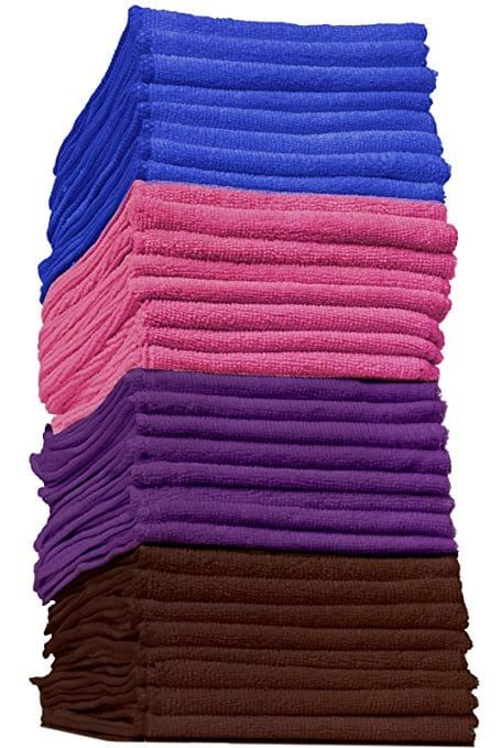 Design Imports 6 Pack Textured Microfiber Kitchen Towels In 2020