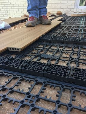 How To Lay Deck Flooring On A Concrete Patio Patio Flooring Deck Over Concrete Concrete Patio