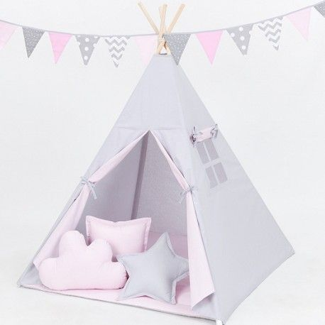 Namiot Tipi Pink Stars Teepee Tent Toddler Bed Teepee