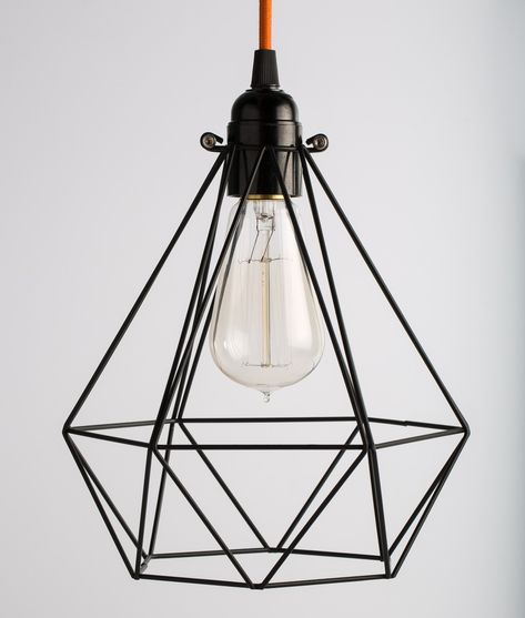 This Black Diamond Cage Light Shade Is Quite Architectural