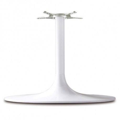 Pied De Table Central Tulipe Ovale Blanc Hauteur 740 Mm En 2020