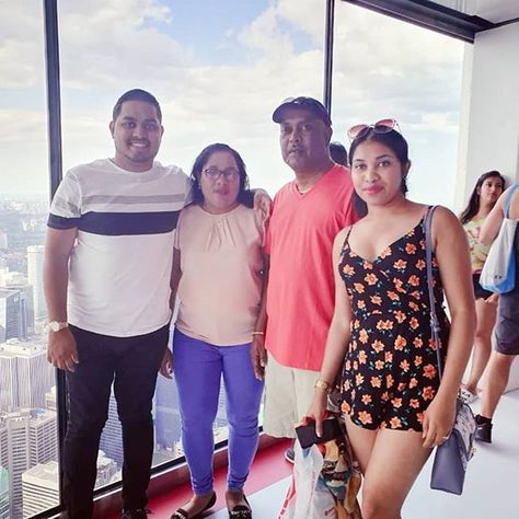 Level 147. . . . #family #familyfirst #famjam #cntower #tourist #touristthings #touring...  Level 147. . . . #family #familyfirst #famjam #cntower #tourist #touristthings #touring #canada #can19 #vacation #summer #summer19 #floral #makeup #fashion #jumpsuit #red #white #blue #view #views #scenic #travel #travelgram #love #happy #happiness #goodvibes #hugs