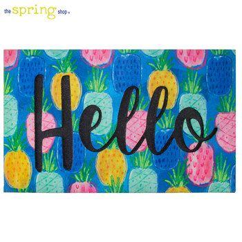 Hello Pineapple Door Mat Door Mat Shop Wall Decor The Spring Shop
