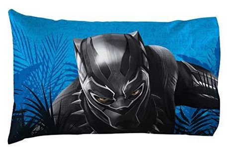 Jay Franco Character Pillowcases - Blue - Black Panther