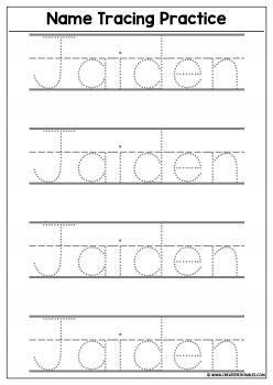 Name writing practice worksheets Wonderful