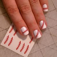 Super cute nails for softball season!