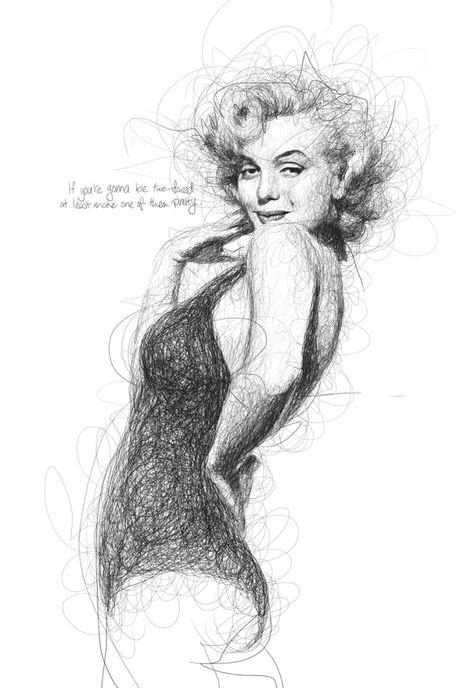 Movie Legend by Vince Low - pencil/pen scribble drawing