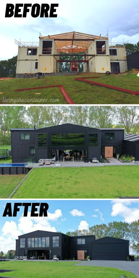 Casa Bunker, Shipping Container Home Designs, Shipping Containers, Building A Container Home, Container Buildings, Barn House Plans, House Goals, Modern House Design, Future House