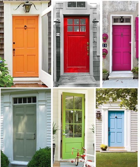 Cape Cod Colors Painted Front Doors