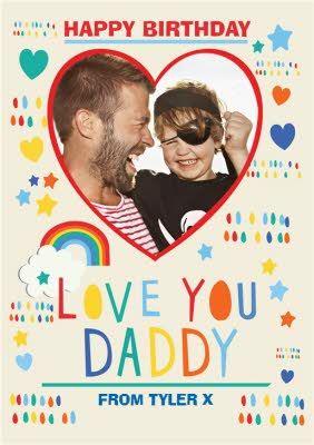 Love You Daddy Photo Upload Birthday Card In 2021 Corporate Brochure Design Branding Design Logo Web Design Tutorials