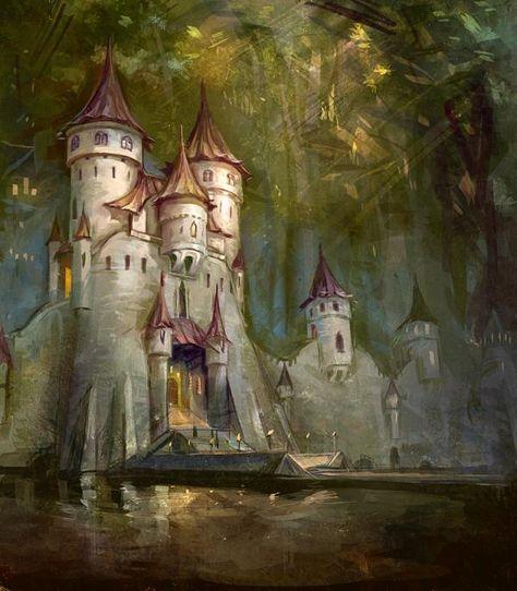 fantasy illustrations | Fantasy Architecture Illustrations by Snow Skadi | nenuno creative