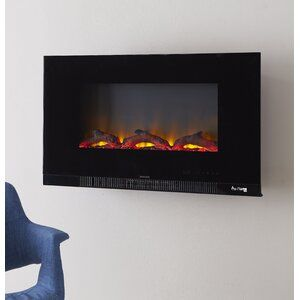Orren Ellis Lesly Wall Mounted Fireplace In 2021 Wall Mounted Fireplace Mounted Fireplace Fireplace Inserts Wall mount electric fireplace reviews