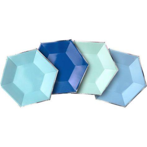 Shades of Blue Dessert Plates 8ct