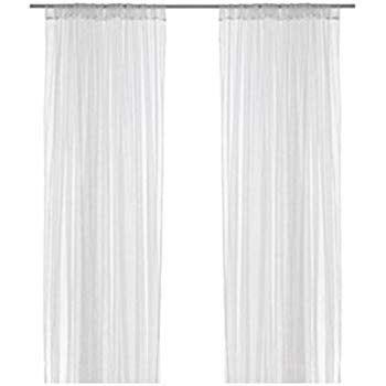 Amazon Com Ikea Mesh Lace Curtains 110 Inch By 98 Inch 1 Ebay Sponsored Ikea Aina Off White Vanilla Linen A In 2020 Lace Curtains Insulated Blackout Curtains Curtains