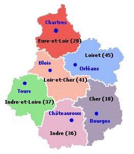 region centre departement - Image