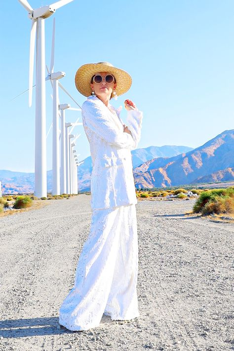 Moves Like Jagger: How To Style a White Pant Suit Like Bianca Jagger White - Pant Kelly Golightly Suit