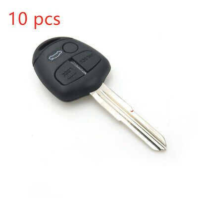 10pcs Remote Key Fob Case Shell Fit For Mitsubishi Lancer Outlander Replacement