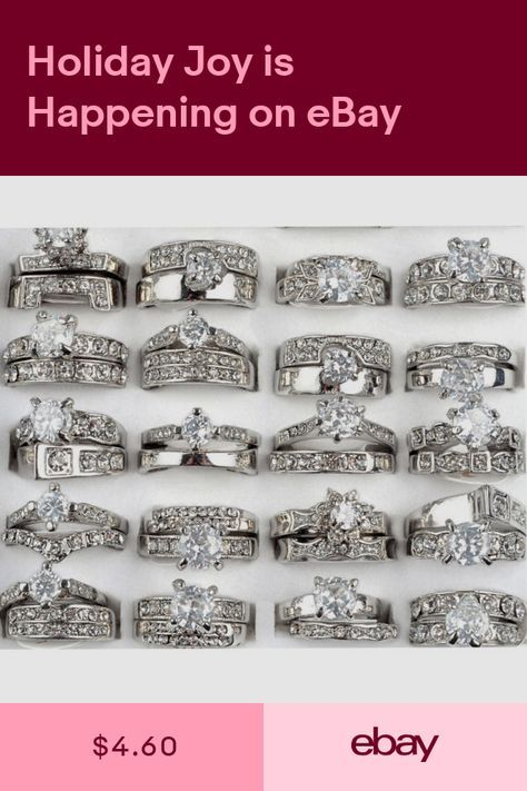 Rings Jewelry Watches Ebay Diamond Wedding Rings Sets Silver Wedding Bands Jewelry Rings