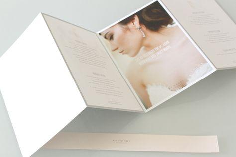 Wedding Photography Marketing Set  X Promo Card  X Trifold