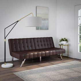 Naomi Home Futon Sofa Bed With Armrest Color Gray Walmart Com Stylish Sofa Bed Futon Sofa Futon