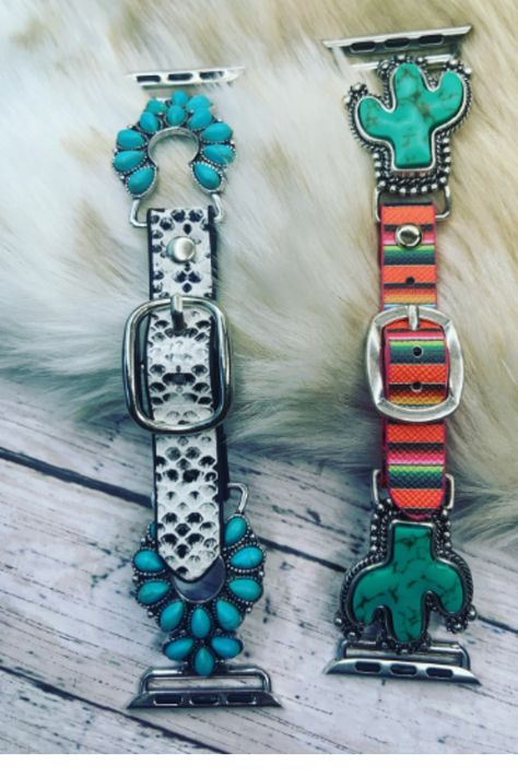 I searched high and low for a cute #Cactus Apple Watch Band, and I finally found one! I love the Cactus Apple Watch Band Serape Watch Band! The faux turquoise apple watch band is absolutely stunning in person. Snakeskin apple watch bands are also very much in style this summer. The white snakeskin apple watch band is perfect for the summer months. Our Adjustable Apple Watch Band is 38-40mm and is a great western apple watch band! #cowgirl#country#countrygirlstyle #applewatchband#serape#snakeskin