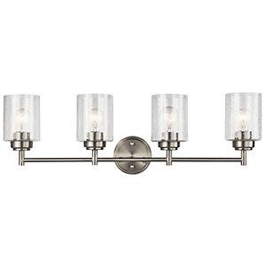 Kichler Winslow Brushed Nickel 22 Inch Three Light Bath Light 45886ni Vanity Lighting Bathroom Light Fixtures Bath Light