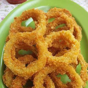 Follow 1001resepmasakanenak Repost Nurul Meong Onion Ring Crispy Bahan 2 Buah Bawang Bombay 70 Gram Tepung Terigu 1 Bawang Bombay Resep Masakan Resep